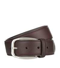 Brioni Reversible Leather Belt Unisex Red