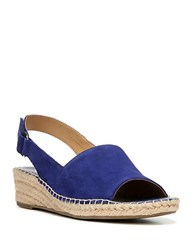 Franco Sarto Leanne Suede Wedge Slingbacks Blue