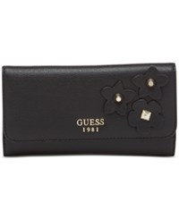 Guess Liya Slim Clutch Wallet Black
