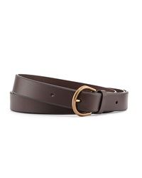 Leather Belt With Brass Buckle Brown Dunhill
