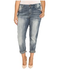 Jag Jeans Plus Size Relaxed Boyfriend In Saginaw Blue Platinum Denim Saginaw Blue Women's