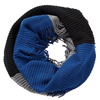 Betty Barclay Chunky Knit Snood Grey Blue