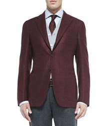 Kiton Houndstooth Three Button Jacket