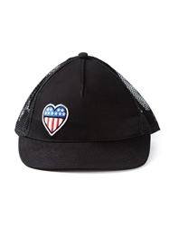 Love Moschino Heart Patch Baseball Cap Black
