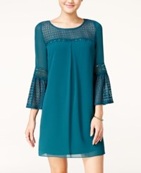 Amy Byer Bcx Juniors' Crochet Lace Shift Dress Teal