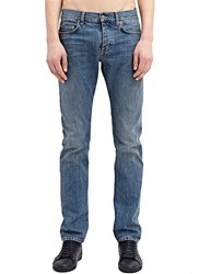 Saint Laurent Straight Five Pocket Jeans Blue
