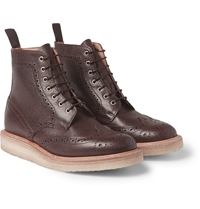 Mark Mcnairy Crepe Sole Leather Brogue Boots