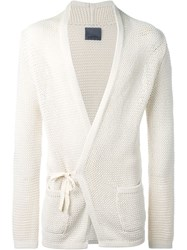 Laneus Wrap Cardigan Nude And Neutrals