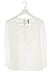 Naf Naf Long Sleeved Top Ecru Off White