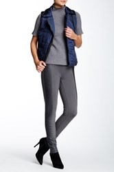 Tractr Jeans Faux Leather Panel Legging Gray