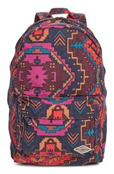 Billabong Junior Women's 'Hand Over Love' Backpack Red Multi