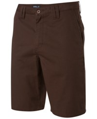 O'neill Men's Contact Twill Chino Shorts Brown