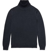 Massimo Alba Slim Fit Cashmere Rollneck Sweater Blue