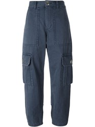 Marc By Marc Jacobs 'Cargo' Trousers Blue