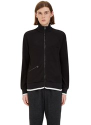 Lanvin Zip Up Technical Jersey Jacket Black