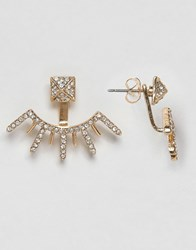 Ny Lon Nylon Gem Swing Earrings Gold