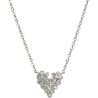 Cathy Waterman Scalloped Heart Pendant Necklace