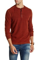 Agave Herbert Long Sleeve Thermal Henley Red