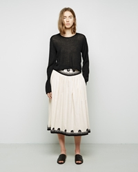 Suno Embroidered Skirt Classic