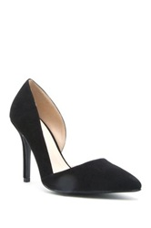 Qupid Mixi High Heel Half D'orsay Pump Black