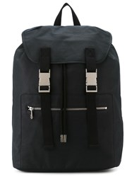 A.P.C. Two Buckle Backpack Blue