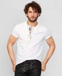 Denim And Supply Ralph Lauren Cotton Flag Patch Henley White