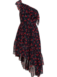 Saint Laurent Cherry Print Silk Dress
