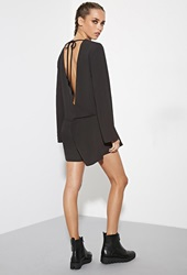 Forever 21 The Fifth Label Sound And Vision Romper Black