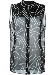 Alexander Wang Geometric Print Top Black