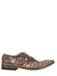 We Are...The Original Linen And Leather Derby Lace Up Shoes