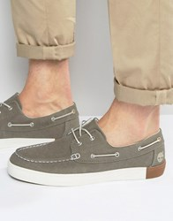 Timberland Newport Canvas Boat Shoes Grey