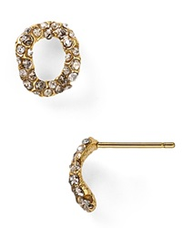 Alexis Bittar Elements Jardin De Papillon Chain Link Stud Post Earrings Gold