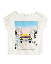 Little Marc Jacobs Cotton Boardwalk Jersey Tee Cream