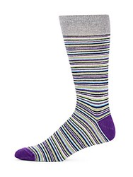 Saks Fifth Avenue Cotton Blend Socks Plum