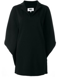 Maison Martin Margiela Mm6 Flutter Sleeve Dress Black