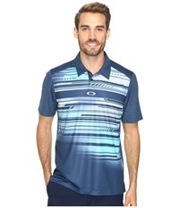 Oakley Provoking Polo Blue Shade Men's Short Sleeve Knit