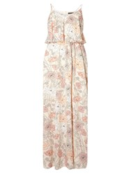Dorothy Perkins Floral Double Layer Maxi Dress Pink