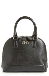 Salvatore Ferragamo 'Mini Darina' Dome Satchel Nero