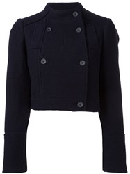 Jil Sander Navy 'Boucle' Jacket Blue