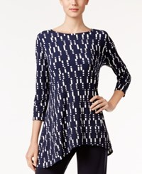 Alfani Printed Swing Top Only At Macy's Navy