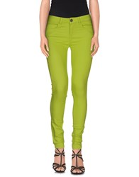 Maison Espin Denim Denim Trousers Women Acid Green