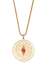 Venyx Bespoke Gemini Coin Pendant And Chain Red