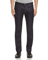 Hugo Coated Denim Straight Fit Jeans In Blue