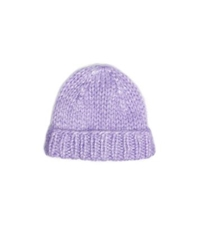 Michael Kors Hand Knit Mohair Hat Wisteria