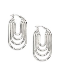 Trina Turk Silver Lining Layered Hoop Earrings