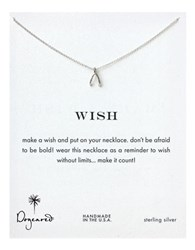 Dogeared Sterling Silver Wishbone Pendant Necklace