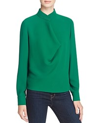 Elizabeth And James Darby Stand Collar Blouse Bottle Green