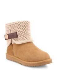 Ugg Shaina Classic Knit Boots Chestnut Black