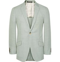 Richard James Green Seishin Slim Fit Wool Linen And Mohair Blend Suit Jacket Mint
