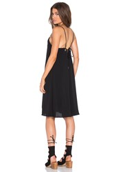 Pink Stitch Charter Dress Black